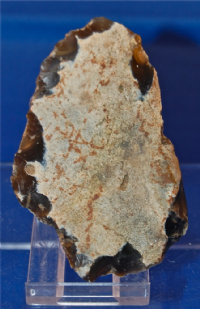 A large and well worked Mesolithic flint scraper / knife tool from Suffolk. SOLD